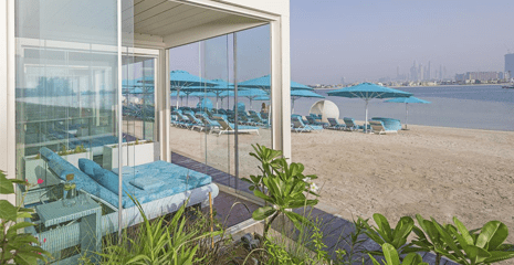 Palm Jumeirah Sand dubai beach retreat hotel BHMK Dubai UAE