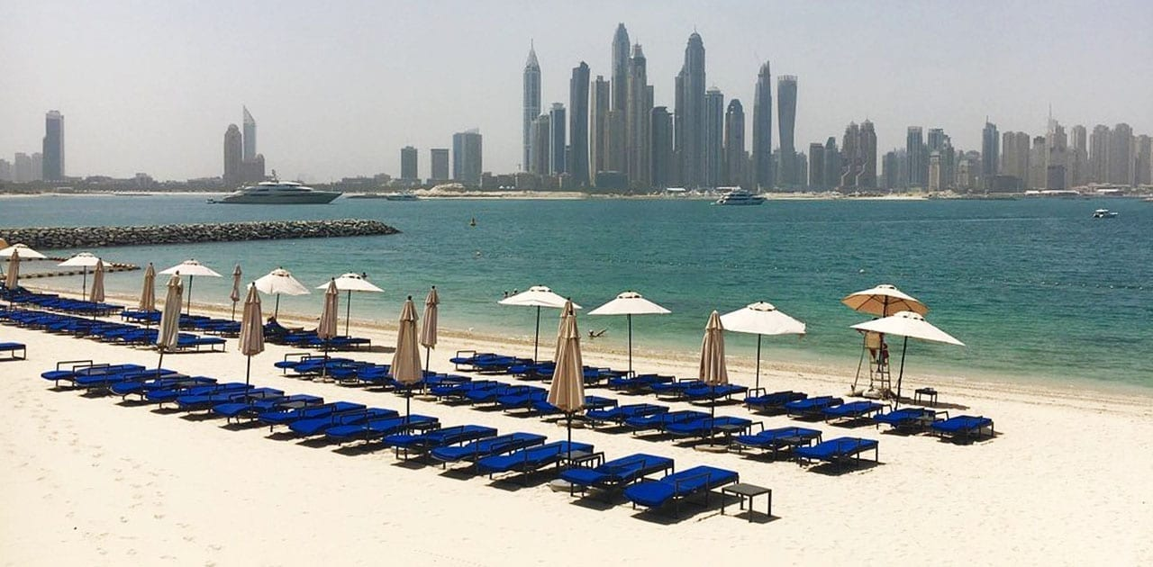 Dukes Hotel Palm Jumeirah Beach sand supplier beach profiling dubai uae