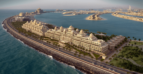 Kempinski Emerald Palace Resort Hotel The palm Jumeirah Dubai UAE Beach sand supplier BHMK Beach profiling Beach nourishment Dubai UAE