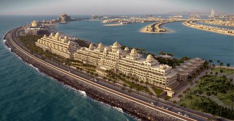 Kempinski Emerald Palace Resort Hotel The palm Jumeirah Dubai UAE Beach sand supplier BHMK Beach profiling Beach nourishment Dubai UAE
