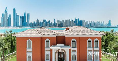 XXII 22 carat villas palm jumeirah BHMK beach sand supplier beach profiling beach nourishment dubai uae