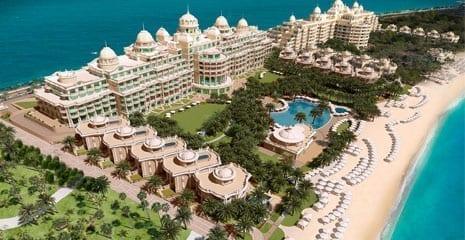 Emarald Palace Kempinski the palm jumeirah dubai uae bhmk beach nourishment beach profiling beach renovation beach maintenance company