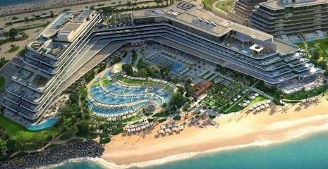 W The Palm Jumeirah Dubai UAE Beach profiling beach nourishment beach maintenance beach renovation beach sand supplier company in Dubai UAE BHMK building materials