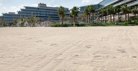 W The Palm Jumeirah Dubai UAE Beach profiling beach nourishment beach maintenance beach renovation beach sand supplier company in Dubai UAE BHMK
