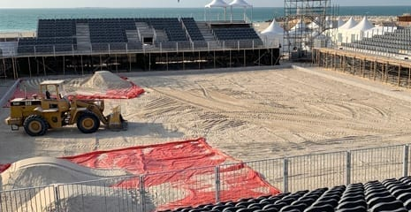 Huawei Intercontinental Beach soccer cup 2018 UAE Dubai Kite Beach BHMK Beach sand supplier