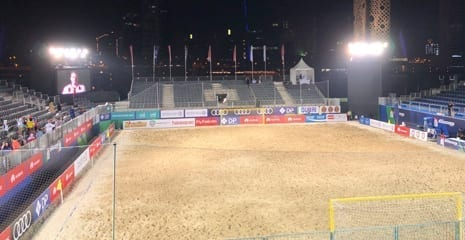 Huawei intercontinental beach soccer dubai uae BHMK sand supplier beach sand washed sand company